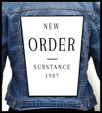 NEW ORDER - Substance  --- Giant Backpatch Back Patch