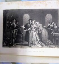 Arrest of Lady Jane Grey Engr by John Sartain 1830s