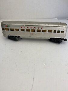 Marx Trains O Scale 3197 Sana Fe Tin Litho Observation Solid Window