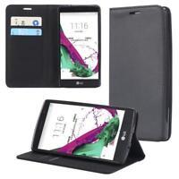 LG G4S Coque de Protection Carte Portefeuille Housse Etui Cover Case Noir
