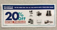 BED BATH & BEYOND Coupon 20% Off Entire Purchase -Coupon Never Expire