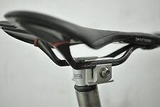 Ti Parts Brompton Bicycle Saddle Clamp for Carbon Saddle Rail Black pentaclip