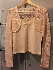 Alannah Hill Pink Knit Top Size 10