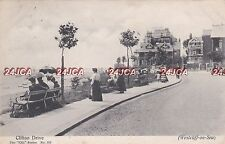 English Postcard. Clifton Drive. Westcliff -on- Sea. Overcliff Hotel Mailed 1905