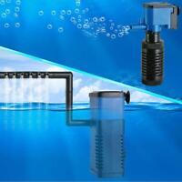 Mini 3 in 1 Aquarium Internal Filter 4W Fish Tank Submersible Pump Spray UP