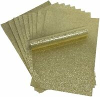 Gold Glitter Card A4 Sparkly Soft Touch Virtually Non Shed 250gsm 10 Sheets