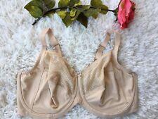 Women's Lilyette Beige Lace Bra 0434  Size 42DD