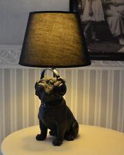 Lampadaire figure de chien bulli madame Carlin lampe de table abat-jour en tissu