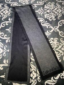 Calvin Klein Mens Gray Black Scarf (A4)