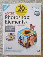 Adobe Photoshop Elements 6 Photo editing software PC MAC OLD VERSION