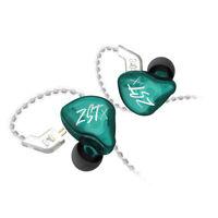 KZ ZST X Auricolare In-Ear Colorato HiFi Verde Standard Senza Microfono