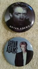 "1"" Vintage Bryan Adams Pin Badge Lot 80s Reckless You Want It You Got It"