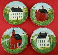 Set of 4 Different Sakura Warren Kimble Country Life Salad / Dessert Plates 1998