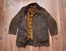 Barbour Classic Solway Waxed Coat Jacket Lining Fishing Hunting XL