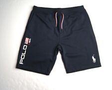 POLO RALPH LAUREN Men's Aviator Navy America Flag Soft Fleece Shorts NEW NWT