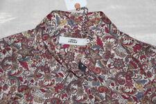 ! 0039 ITALY Tunika Kleid Gr. M Paisley Liberty Stoff BW - NEU