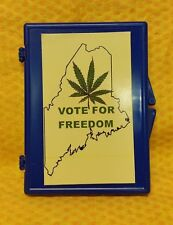 "State of Maine ""Vote For Freedom"" Plastic Snap Lock Cigarette Case"