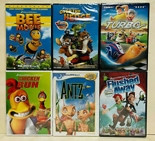 Lot of 6 DreamWorks New Dvds Kids Bee Movie, Antz, Turbo, Chicken Run, Over the