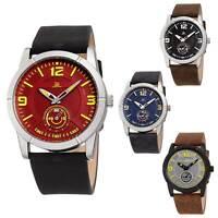 Men's Joshua & Sons JX135 Quartz Sports 60 Second Sub Dial Leather Strap Watch