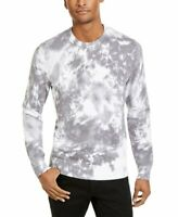 INC Mens Sweater Pure White Size Large L Crewneck Tie Dye Gnover Ribbed $69 171