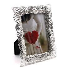 Ornate Leaf Design Silver Plated Photo Frame 4 X 6 Boxed Fs73846