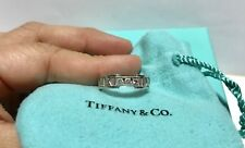 TIFFANY & CO  - SOLID 18K WHITE GOLD - DIAMOND ATLAS RING - RET=2000 / SIZE = 7