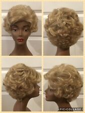 """NEW! Chic Collection Wig """"Kathy"""" Color #223R Sunlit Beige Sz Average Curly NWT"""