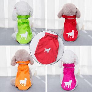 Waterproof Pet Dog Vest Jacket Reflective Rain Coat For Small Medium Large Dogs