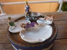 4 vides poches baigneuses allemands porcelaine art deco