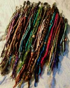 Clip In Dreads SAMPLE SALE REDUCED Price Dreads Felted Wool Dread Seconds