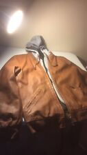 Mens Brown Leather Jacket Medium