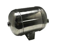 "V 1 Gal Polished Stainless Steel 4-Port Air Reservoir Tank 2-1/4"" NPT 2-3/8"""
