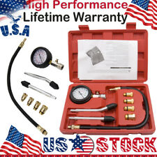High Energy Petrol Gas Engine Cylinder Compression Tester Gauge Kit 0-300 psi US