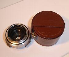 Vintage Voigtlander Prominent Skoparon 35mm f/3.5 Prime Lens 1:3.5/35, Cased .