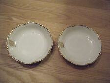 Theodore Haviland Limoges White & Gold Small Bowl, Lot of  2