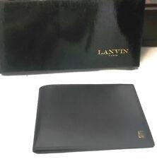 LANVIN Portafoglio da uomo in pelle Nero per Banconote e Assegni | Wallet men
