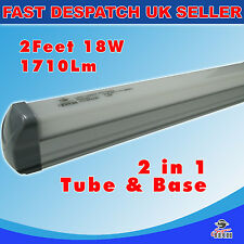 Set of 2 X 2 in 1 600mm 18W T8 integrated LED tube, Isolated driver 6000K 1710L
