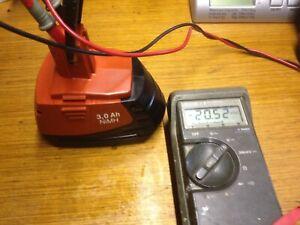 1 batterie hilti SFB185 refaite a neuf 3Ah ni mh (1an garantie) Battery Bateria