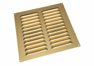 NEW Pack Of 1 Aluminium Gold Louvre Grille Vent Ventilation Cover 9 X 9 Inches
