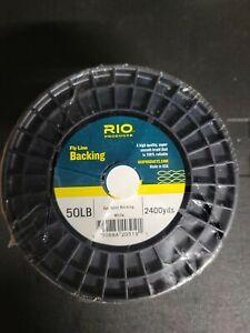 RIO Gel Spun Fly Line Backing, 50lb / 2400 yards, Color White