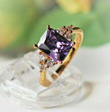 4M Amethyst lila violett DamenRing Gold 18K GF (750pl) Gr 56 Ø17,9 mm gest