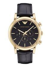 Emporio Armani AR1917 Luigi Chronograph Black Leather Strap Men's Watch