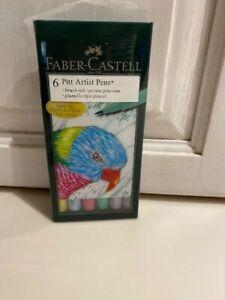 Faber Castell pitt artist pen set of six 167103T
