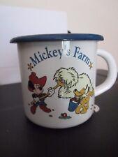 DISNEYLAND Paris EXCLUSIVE - Enamel MUG - MICKEY MOUSE - 'Mickey's Farm' Goofy