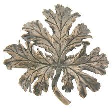 Vintage Guglielmo Cini Solid Sterling Silver Detailed Leaf Brooch Pin Ca. 1950