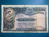 1949 Hong Kong & Shanghai Ten Dollars. Rare!!!