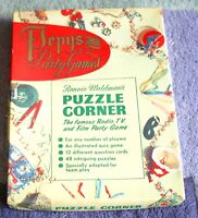 1950'S PUZZLE CORNER  PEPYS PARTY GAME