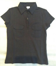 Ladies Black Work Top Size 10 Old Stock Etam 100 Cotton