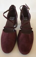 MOOTSIES TOOTSIES SAINT Red Suede Leather Slingback Shoes Size 9.5 M