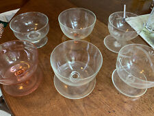 Six Glass Pudding Bowls All Different